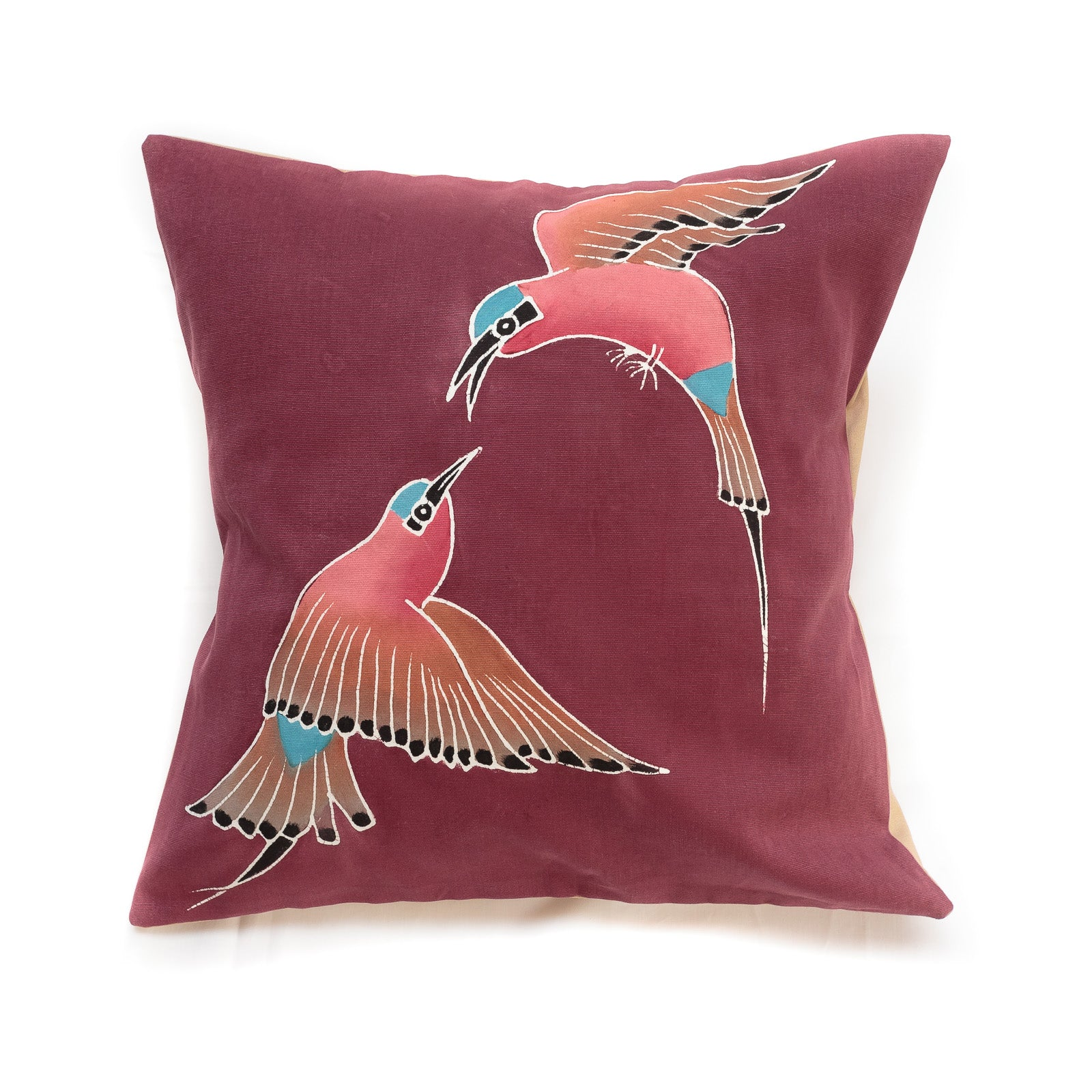 Cushion Covers ~ Birds ~ Carmine Bee-eater - Red