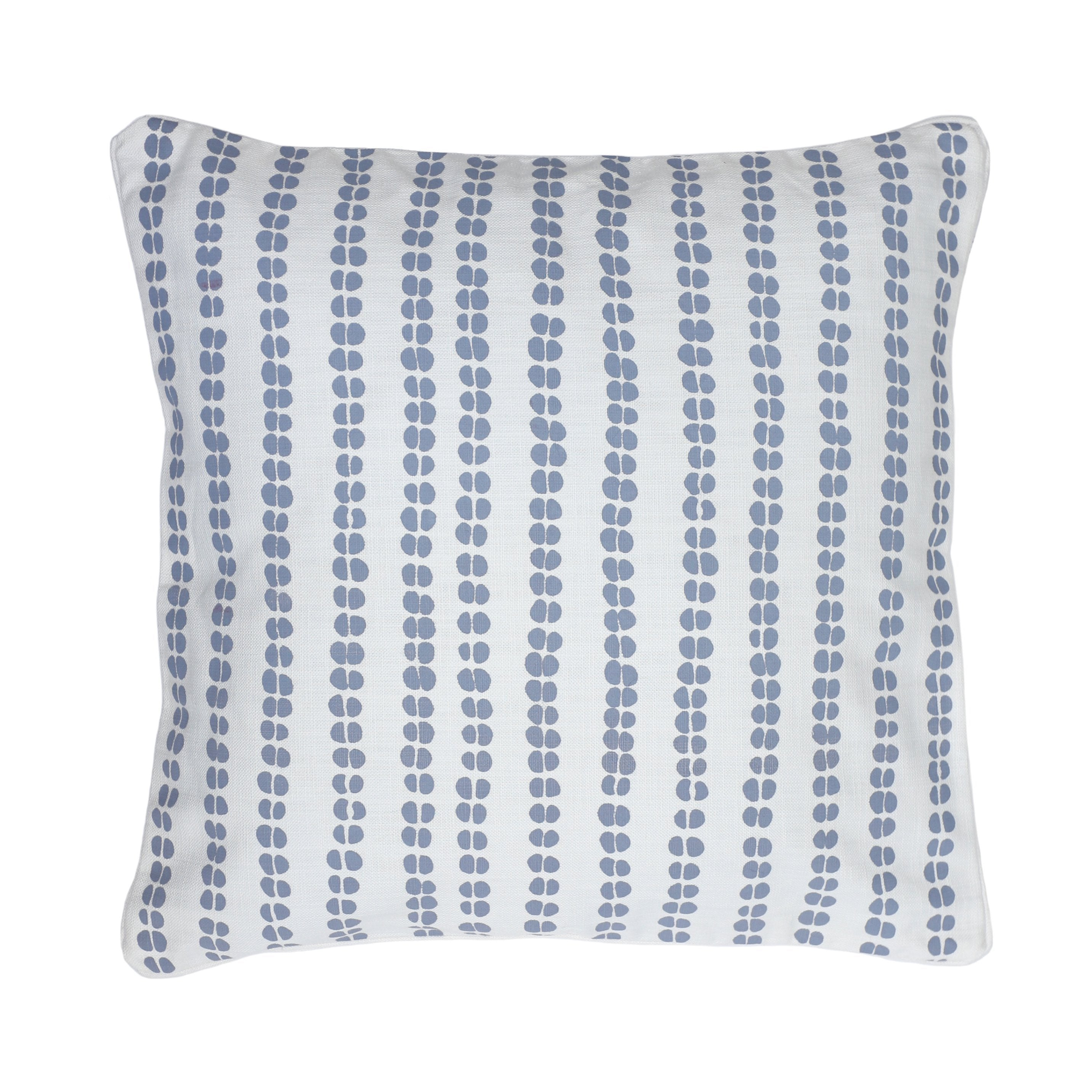 Cushion Cover ~ Runner Bean, Duck Egg on White