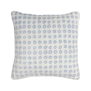 Cushion Cover ~ Mali Star, Duck Egg on Linen
