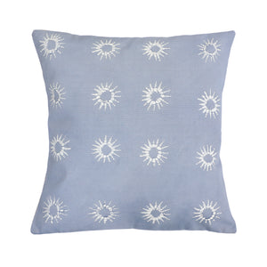Cushion Cover ~ Mali Star, Linen on duck egg