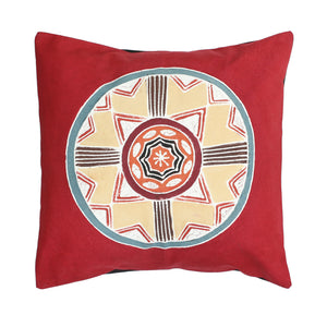 Cushion Cover ~ African Circles - Massai Red