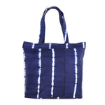 Billie Tote Bag Navy Tiedye Stripe