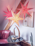 Cable and light bulb holder for paper stars
