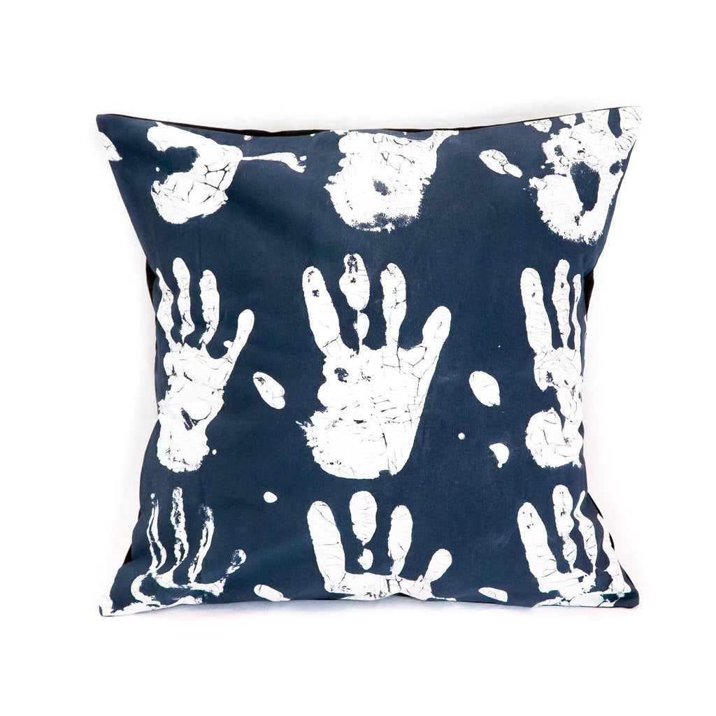 Cushion Cover ~ Tribal cloth - Handprints