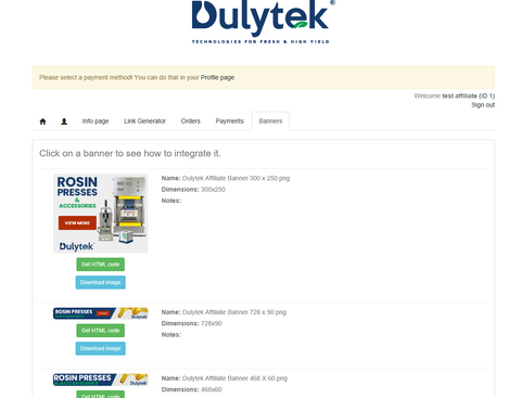 Dulytek Affiliate Referral Program Banners