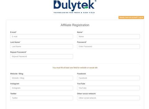 Dulytek Affiliate Referral Program