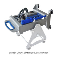 Dulytek DHP7 Rosin Heat Press and DripTek Stand Tilted for Rosin Drip