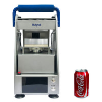 Dulytek DW6000 Electric Rosin Press for Solvent-less Cannabis Oil Extraction, Size Compared to Soda Can