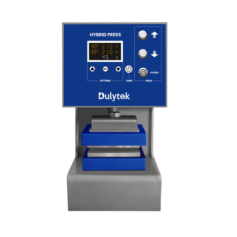 Dulytek DW8000 Ton Hybrid Rosin Press and Accessories Bundle for Solventless Extraction - Heat Press Machine