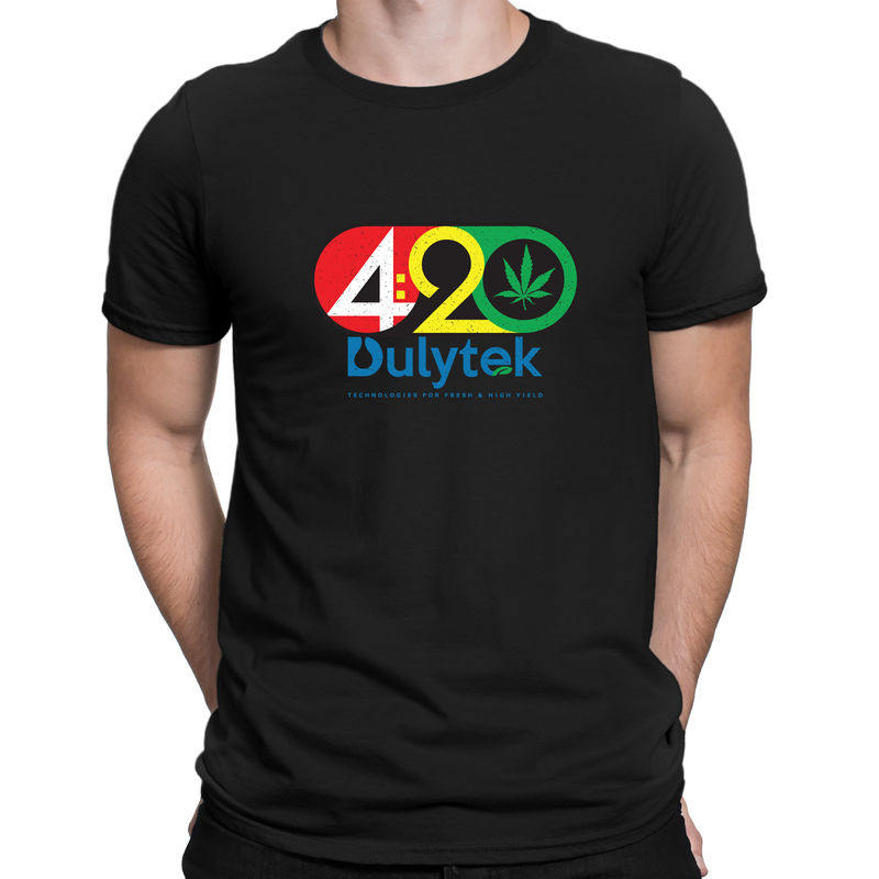 Dulytek 100% Cotton Unisex 420 T-Shirt, Black