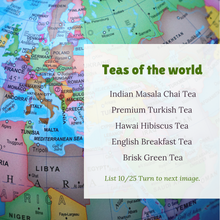 Teas of the World 25 Varieties in Recyclable Tin Box