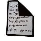 Scripture blanket, Christian gift,  Scripture gift, Grieving gift, Mother's Day gift, Baptism gift