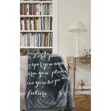 Luxuriously Soft Scripture Throw Blanket, Jeremiah 29:11, Large