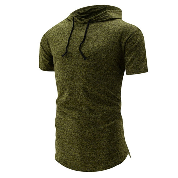 Hooded Casual Short-Sleeved T-Shirt-t-shirt-Dee SuSu-Green-M-Dee SuSu