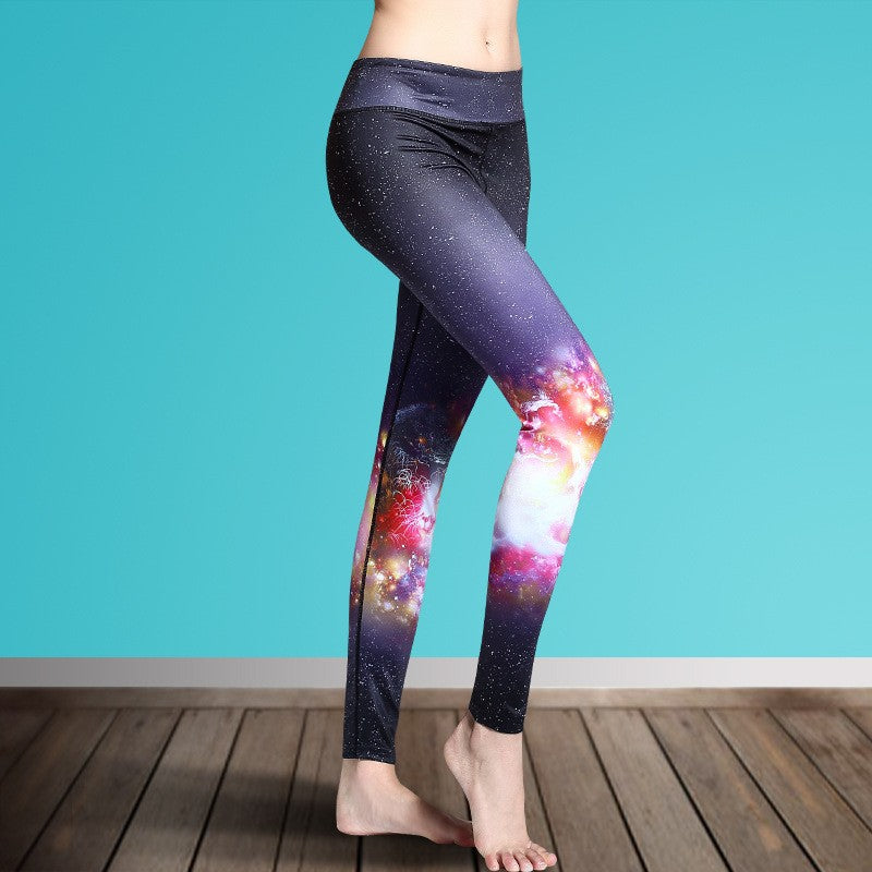 Women's Printed Stretch Sport Leggings-pant-Dee SuSu-Strar-S-Dee SuSu