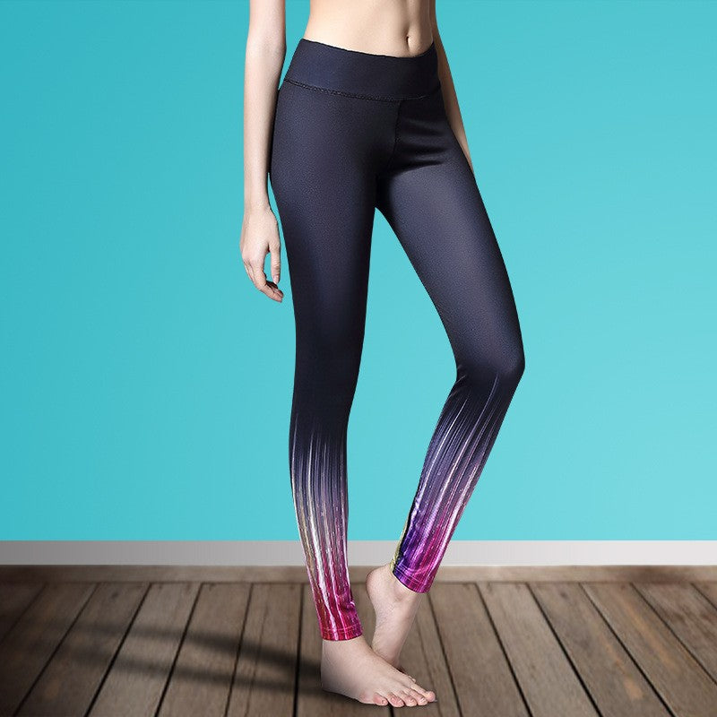 Women's Printed Stretch Sport Leggings-pant-Dee SuSu-Colour Bar-S-Dee SuSu