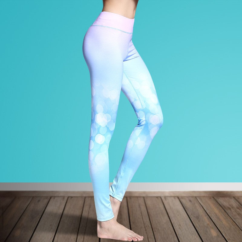 Women's Printed Stretch Sport Leggings-pant-Dee SuSu-Warm Bubbles-S-Dee SuSu