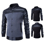 Stylish Buttoned Leather Jacket-coat-Dee SuSu-Dee SuSu