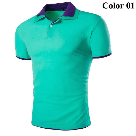 Short Sleeve Summer Polo Shirts - HOT-shirt-Dee SuSu-1-M-Dee SuSu
