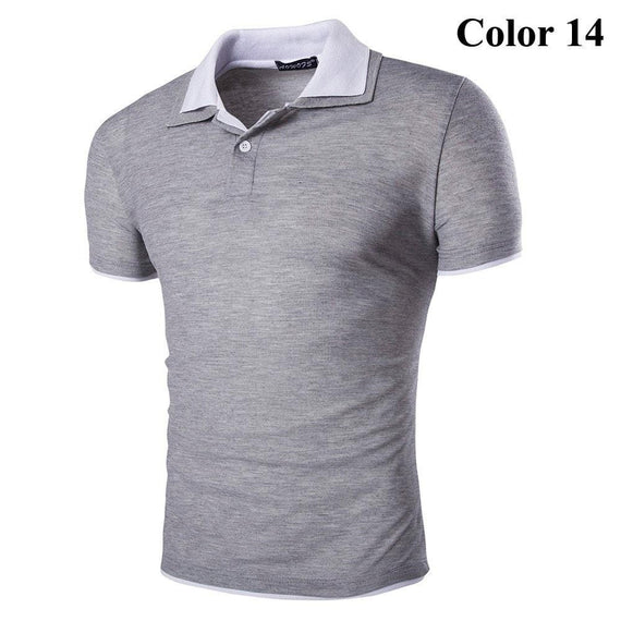 Short Sleeve Summer Polo Shirts - HOT-shirt-Dee SuSu-14-M-Dee SuSu