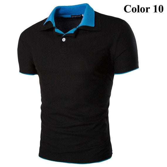 Short Sleeve Summer Polo Shirts - HOT-shirt-Dee SuSu-10-M-Dee SuSu