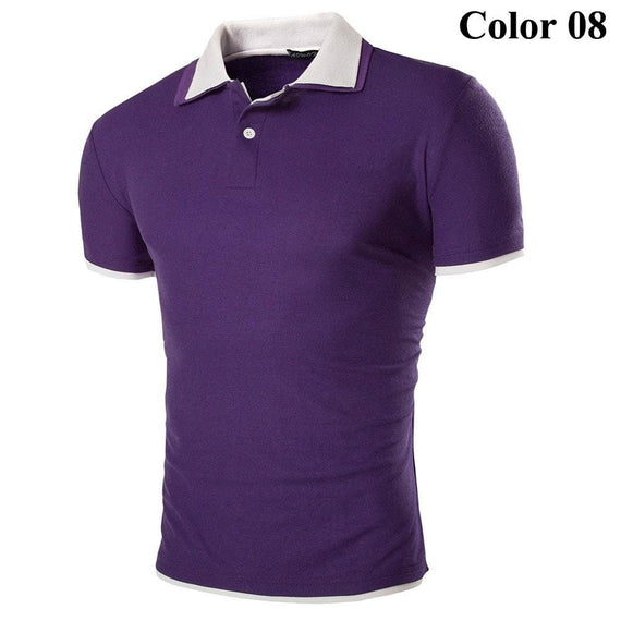 Short Sleeve Summer Polo Shirts - HOT-shirt-Dee SuSu-8-M-Dee SuSu
