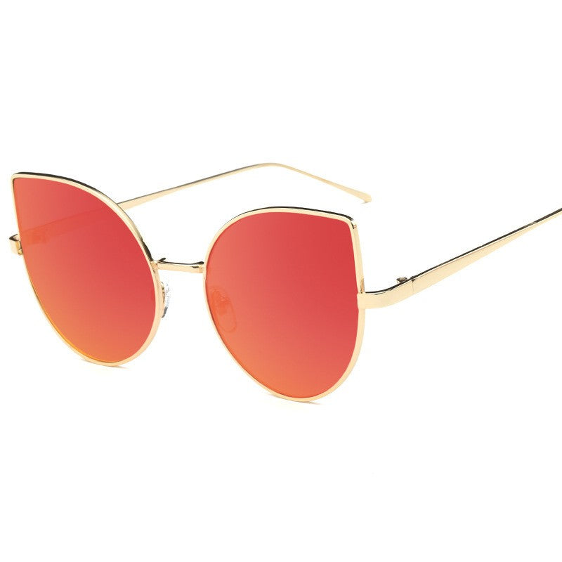 Cat Eye Sunglasses-sunglasses-Dee SuSu-Gold+Red-Dee SuSu