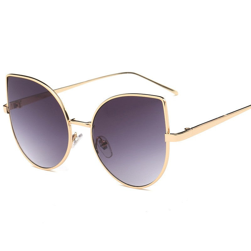 Cat Eye Sunglasses-sunglasses-Dee SuSu-Gold+Gray-Dee SuSu