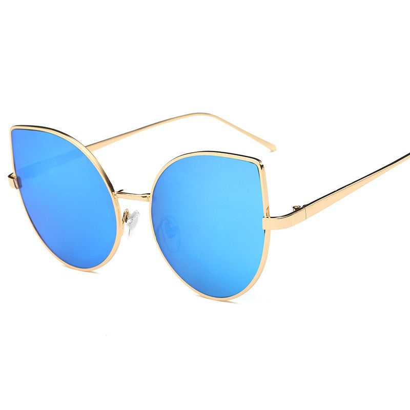 Cat Eye Sunglasses-sunglasses-Dee SuSu-Gold+Blue-Dee SuSu