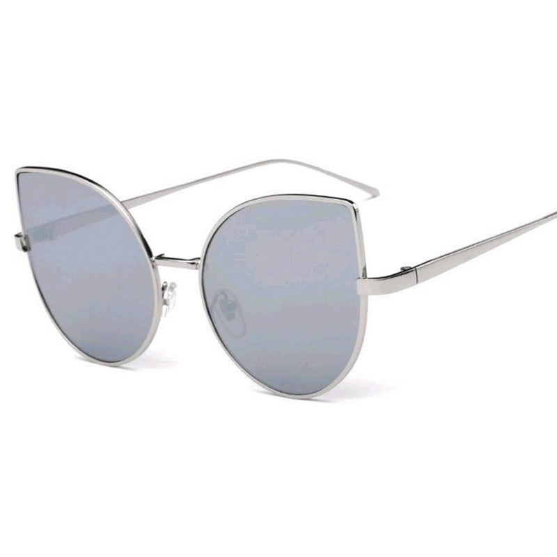 Cat Eye Sunglasses-sunglasses-Dee SuSu-Silver+White-Dee SuSu