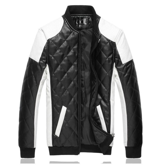 Men Wash Fashionable Leather Clothes-coat-Dee SuSu-Black-M-Dee SuSu