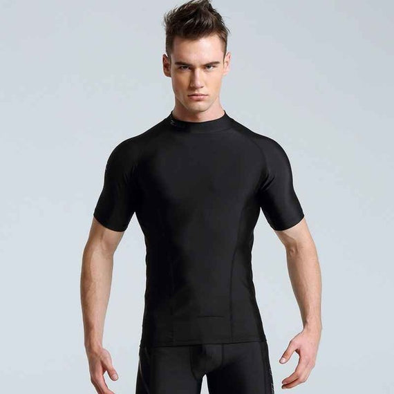 Men's Quick-drying Tights Pants-default-Dee SuSu-men black 2-L-Dee SuSu