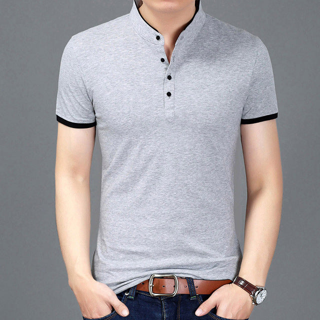 Slim Fit Short Sleeve Summer T-shirt-default-Dee SuSu-Silver-XXXL-Dee SuSu