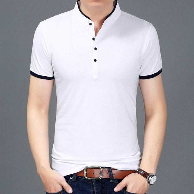 Slim Fit Short Sleeve Summer T-shirt-default-Dee SuSu-White-Asian size M-Dee SuSu