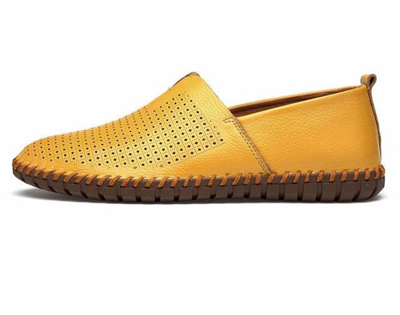 Men's Casual Handmade Slip On Loafers-default-Dee SuSu-yellow breathable-8.5-Dee SuSu