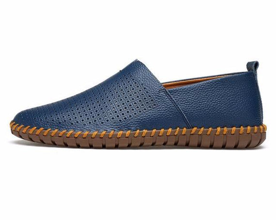 Men's Casual Handmade Slip On Loafers-default-Dee SuSu-blue breathable-9.5-Dee SuSu