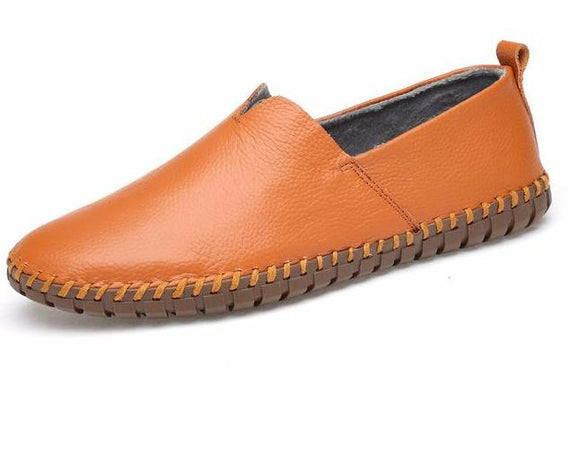 Men's Casual Handmade Slip On Loafers-default-Dee SuSu-brown with fur-10-Dee SuSu
