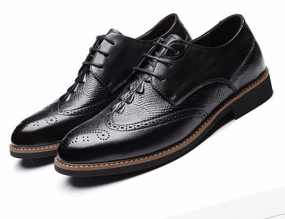 Men's Leather Lace-up Handmade Shoes-default-Dee SuSu-Dee SuSu