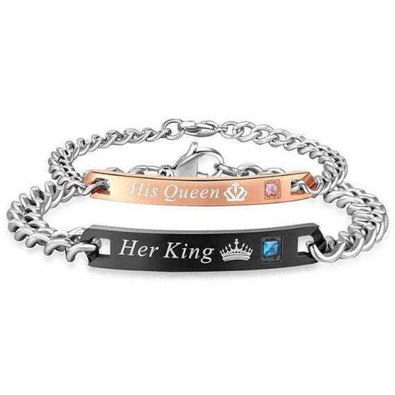 "2 piece ""HER KING & HIS QUEEN"" Bracelets"