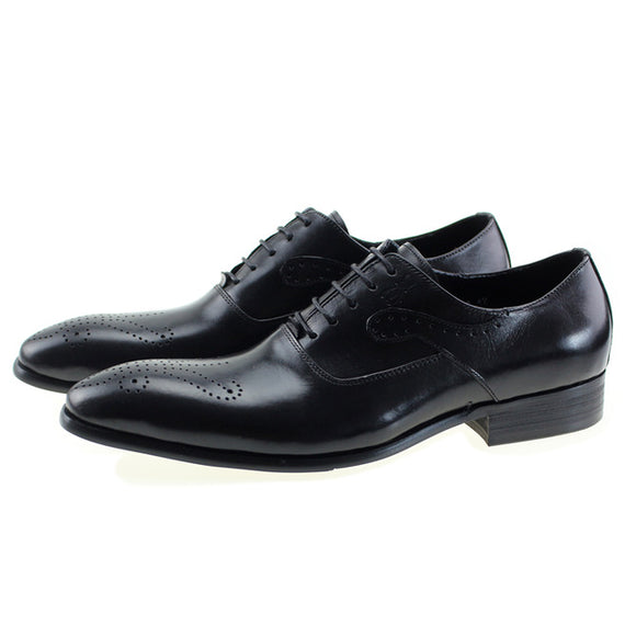 Men's Lace-up Dressing Shoes-default-Dee SuSu-Black-7.5-Dee SuSu