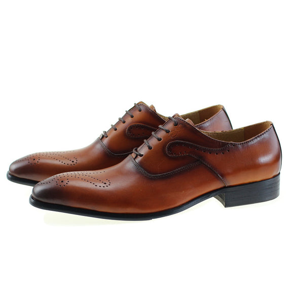 Men's Lace-up Dressing Shoes-default-Dee SuSu-Brown-7.5-Dee SuSu