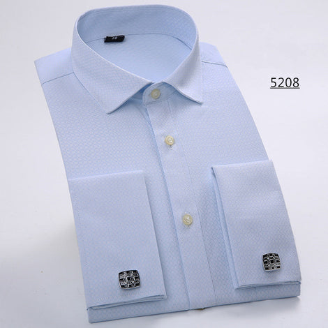 Slim Fit Long Sleeve Cufflink Shirts For Men-default-Dee SuSu-5208-Asian size L-Dee SuSu