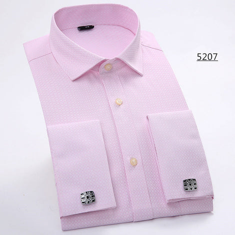 Slim Fit Long Sleeve Cufflink Shirts For Men-default-Dee SuSu-5207-Asian size XXL-Dee SuSu