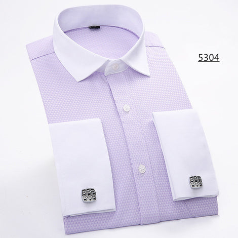 Slim Fit Long Sleeve Cufflink Shirts For Men-default-Dee SuSu-5304-Asian size S-Dee SuSu