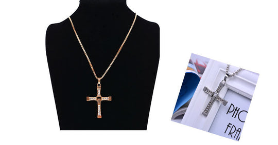 Fast and Furious Dominic Toretto's Cross Pendant Necklace-default-Dee SuSu-Dee SuSu