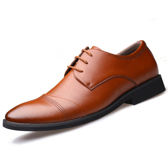 Pointed Toe Business Dress Formal Shoes For Men-default-Dee SuSu-Brown-6.5-Dee SuSu