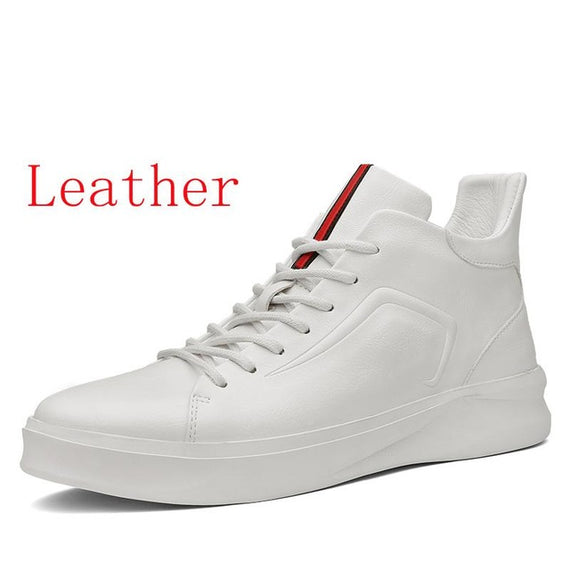 Leather And Suede Lace-up Shoe-default-Dee SuSu-White leather-11-Dee SuSu