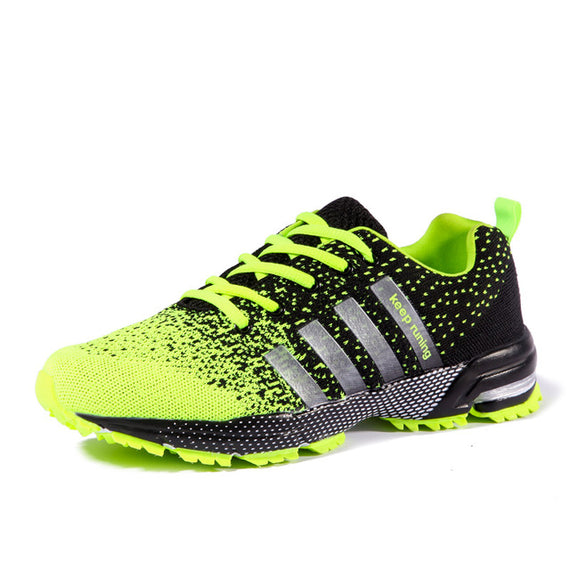 Lace Up Comfortable Sports Shoes-default-Dee SuSu-8702 Green-8-Dee SuSu