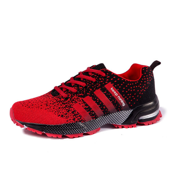 Lace Up Comfortable Sports Shoes-default-Dee SuSu-8702 Black Red-6.5-Dee SuSu