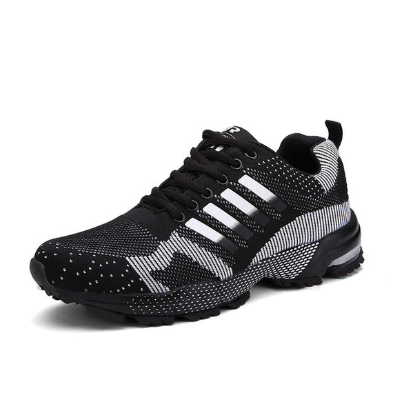 Lace Up Comfortable Sports Shoes-default-Dee SuSu-8701 Black White-9.5-Dee SuSu